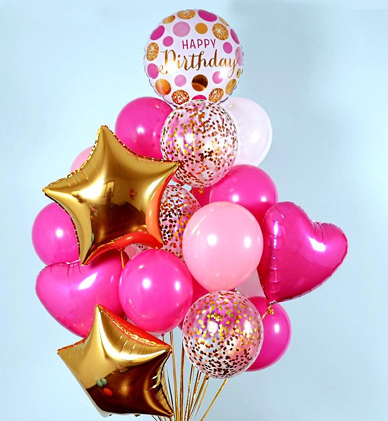 Картинки с днем рождения из шариков